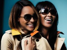 "Naomi Campbell For Burberry ""Gabardine Collection"" Spring/Summer 2015 Eyewear Campaign"