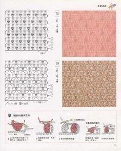 crochê crochet pontos muestras motivos