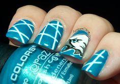 Amber did it - Philadelphia Eagles Nails.