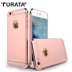 For iPhone 6 / 6s Case - TURATA [Extreme Protection][Shock Absorbent] [Metal Plating] Hard Plastic Cover Case for iPhone 6 / 6s