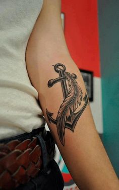anchor tattoo. Katie you would like this