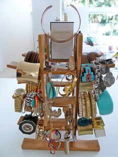Love this idea! Wine rack accessories stand :)