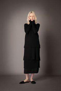 2021-22 A/W 010, Wool Rib + Wool Jersey Combination T-shirt FRC-T08-110, Wool Rib + Wool Jersey Combination Tunic FRC-T09-110, Wool Rib + Wool Jersey Combination Tunic Skirt FRC-S02-110F High Neck Dress, Tunic, Skirts, T Shirt, Dresses, Fashion, Gowns, Turtleneck Dress, Vestidos