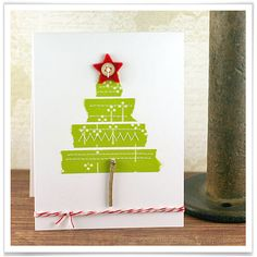 Washi Tape Tree Christmas Card