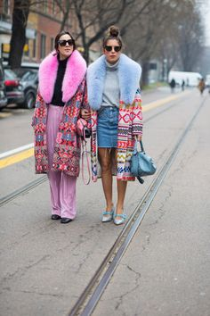 On the street at Milan Fashion Week. Photo: Chiara Marina Grioni.