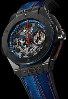 ♂ Man's fashion accessories watch blue Hublot King Power Ferrari Beverly Hills watch