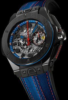 Hublot King Power Big Bang Ferrari Beverly Hills watch - limited edition of 50 pieces. Price $29,900.00. big bang, bang ferrari