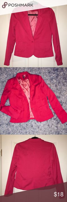 Pink Fitted Blazer Cute hot pink fitted blazer. Lightly used, great condition. Jackets & Coats Blazers