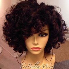 Beautiful curly wigs for black women lace front wigs human hair wigs. Click picture to see Wavy Weave Hairstyles, Pretty Hairstyles, Wig Hairstyles, Curly Haircuts, Wig Styles, Curly Hair Styles, Natural Hair Styles, Love Hair, Big Hair