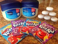 How to make Kool-Aid lip gloss: super cute idea for birthday party activities and favors!  Classy Mommy