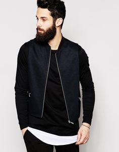 ASOS Slim Fit Waistcoat In Pique Jersey With Rib Collar