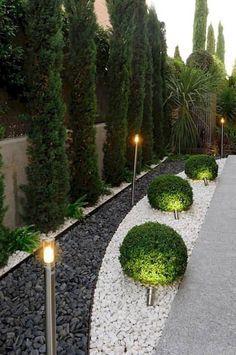 hof landschaften Simple Front Yard Backyard Landscaping Ideas on A Budget 2019 - - Modern Landscape Design, Modern Garden Design, Garden Landscape Design, Landscape Bricks, Contemporary Design, Small Backyard Landscaping, Landscaping With Rocks, Modern Landscaping, Landscaping Ideas