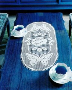 Butterfly Filet Crochet Chart for Table Runner