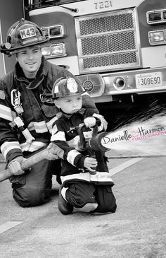 So precious! Had a great family session today at the Aberdeen Fire Station! #Family #photographer #firefighter #justlikedad #danielleharmonphotography #life #love #bestjobever #portraitphotographer #kids #boys #fireman #Paramedic  www.danielleharmonphotography.com