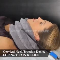 Neck Traction Device Neck Traction Device can stretch and relax the neck and shoulder muscles with the exact amount of traction while improving the spinal posture. The stretching can decompress the spinal disc, which. Neck And Shoulder Muscles, Intervertebral Disc, Health Tips, Health Care, Health And Fitness Expo, Perfect Posture, Neck Pain Relief, Sport Fitness, Relax
