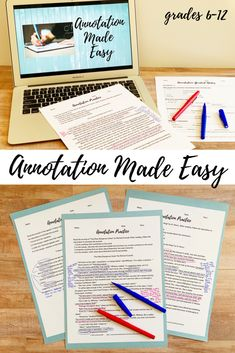 Annotation Made Easy: Presentation, Guided Notes, and Practice Secondary Resources, Writing Resources, School Resources, Teacher Resources, Teaching Ideas, Creative Teaching, Teaching Materials, Writing Ideas, Note Taking Strategies