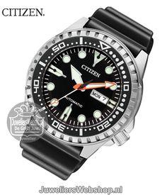 Citizen NH8380-15EE horloge duiker Automatic Zwart. #citizen #citizenwatch #promaster #duikhorloge #automaat Citizen Watches, Men's Watches, Watches For Men, Ap Royal Oak, Roman Soldiers, Affordable Watches, Watch 2, Geek Squad, Citizen Eco