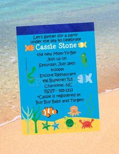 under the sea invitation by cutie patootie creations sea baby showersbaby shower