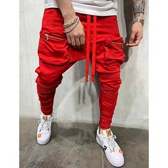 Tactical Cargo Pants, Cargo Pants Men, Men's Pants, Pantalon Streetwear, Streetwear Fashion, Harlem Pants, Cheap Mens Pants, Style Sportif, Basic Leggings