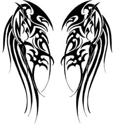 Tribal Wings by Velveteeniris on DeviantArt Wing Tattoo – Fashion Tattoos Viking Tattoos, Celtic Tattoos, Tribal Tattoos, Body Art Tattoos, New Tattoos, Sleeve Tattoos, Tattoos For Guys, Skull Tattoos, Tatouage Assassins Creed