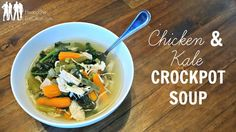 Chillier weather = Chicken Soup time! Grab your CrockPot and get ready to make this easy Chicken and Kale Crockpot Soup that everyone in your family will love. Throw in some kale for an extra touch of flavor and vitamins.