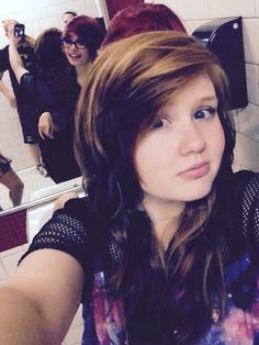 Lol I got ma friend in this selfie :3 oh my im so proud lol she's so awesome!!