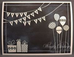 I'm trying to build a stash of birthday cards but also try different techniques.The chalkboard technique has become very popular and...
