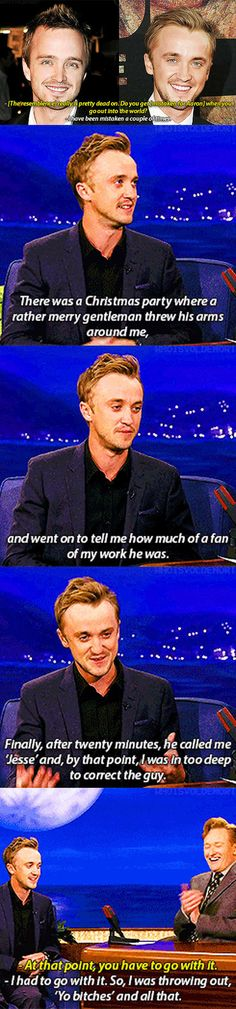 Being mistaken for Aaron Paul - Draco Malfoy