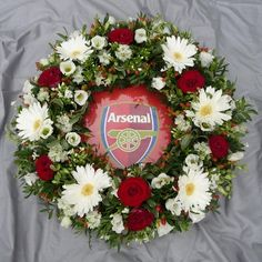 Arsenal Football Club Wreath - a bespoke floral funeral tribute