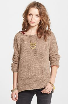 Free shipping and returns on Free People 'Teddy Bear' Sweater at Nordstrom.com. In a super-cuddly knit that instantly takes you to your happy place, a boatneck pullover with a slouchy, oversized fit is finished with a vented high/low hem.