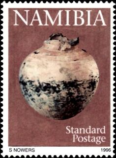 Stamp%3A%20Urn-shaped%20storage%20vessel.%20(Namibia)%20(Early%20Pastoral%20Pottery)%20Mi%3ANA%20824%2CSn%3ANA%20812%2CYt%3ANA%20776%20%23colnect%20%23collection%20%23stamps