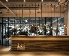 © Seth Powers. Front desk of The Clinic by Hannah Churchill from hcreates | Shanghai, China