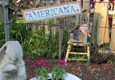 AMERICANA Reclaimed Wood Sign / Farmhouse Chic / by Homestead1863, $17.95
