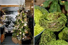 Rustic Christmas Tree and Mossed Birds Nest - Natural Christmas Decorations from Geny's Wholesale in Nashville - Root and Vine Blog