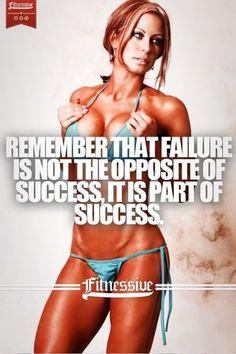 Failure is part of success! #Fitspo #GymRat #FitnessMotivation