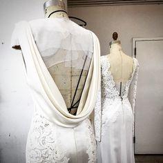 A peak into the new J. Mendel Bridal Collection by @gillesmendel #comingsoon #regram #bridal #jmendel #brides #wedding #insidetheatelier