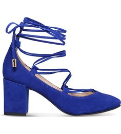 7b0d602aa18d CARVELA Aid lace-up suede courts. Blue High HeelsLace ...