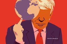 @Ivan Canu salzmanart.com client: die Zeit, Fuck the planet (Trump's series) #trump #politics #editorial #conceptual #portrait #planet