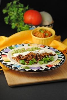 Shredded Chipotle Beef Tacos... Yum!!! You make this in the crockpot ...