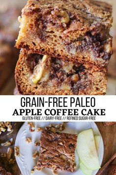 Paleo Apple Coffee Cake - Moist, sweet, buttery apple coffee cake made entirely without grains, refined sugar, or dairy. This easy, approachable almond flour coffee cake recipe is perfect alongside your morning coffee or tea.