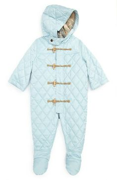 Burberry Hooded Snow Suit (Baby Boys) available at #Nordstrom