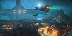 SS-1 by GarretAJ   Designs & Interfaces / Game Development Art / 2D Game Art / Environments & Tiles   Sci-Fi futuristic space station spacecraft spaceships technology   https://www.kickstarter.com/projects/1964463742/the-mandate