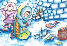즐거운미술생각 - 에스키모인 Kids Art Class, Art For Kids, Projects For Kids, Art Projects, Kids Part, Kindergarten Art, People Of The World, Drawing For Kids, Easy Drawings
