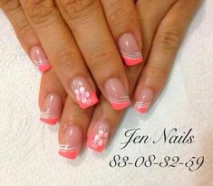 unghie francese profonde Manicure - DIY French Nail Tips At Home - Cute Nail Colors, Cute Nails, Pretty Nails, My Nails, French Nail Designs, Colorful Nail Designs, Toe Nail Designs, Easter Nail Designs, Spring Nails