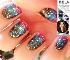 latest nails trends Galaxy Nail art vs NCLA nail wraps