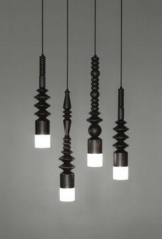 Wood Lamp-Mat Cult, Bead lights, 2009