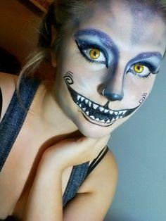 Moneka: Cheshire cat #Halloween #makeup #halloween makeup #chesire cat #Alice and wonderland