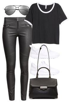 """""""Untitled #8553"""" by katgorostiza ❤ liked on Polyvore featuring H&M, NIKE, Alexander Wang and Yves Saint Laurent"""