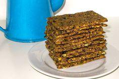 Bread Recipes, Snack Recipes, Bread Bun, 20 Min, Bread Baking, Crackers, Good Food, Vegetarian, Granola