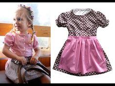 ▶ Dirndl / Trachtenkleid / Kleid mit Schürze selber nähen - Schnitt Kinderdirndl von Zierstoff - YouTube